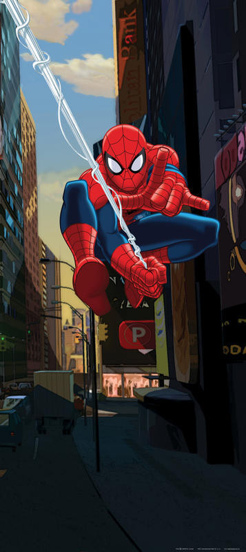 Poster porte Spiderman Flying 90X202 CM