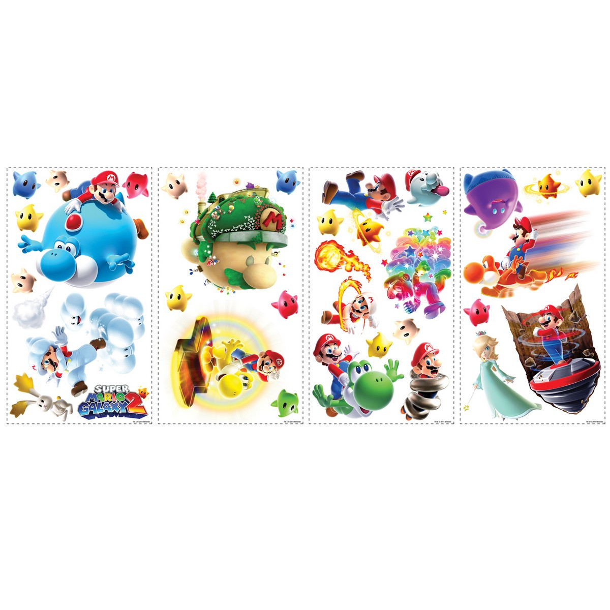 32 Stickers Super Mario Galaxy 2 Nintendo