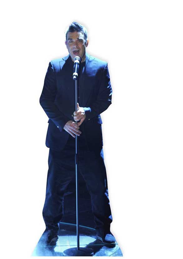 Figurine en carton taille reelle Robbie Williams 184cm