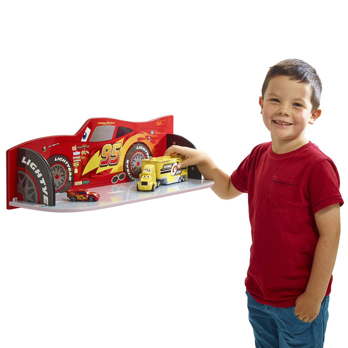 Étagère murale Flash McQueen Cars Disney