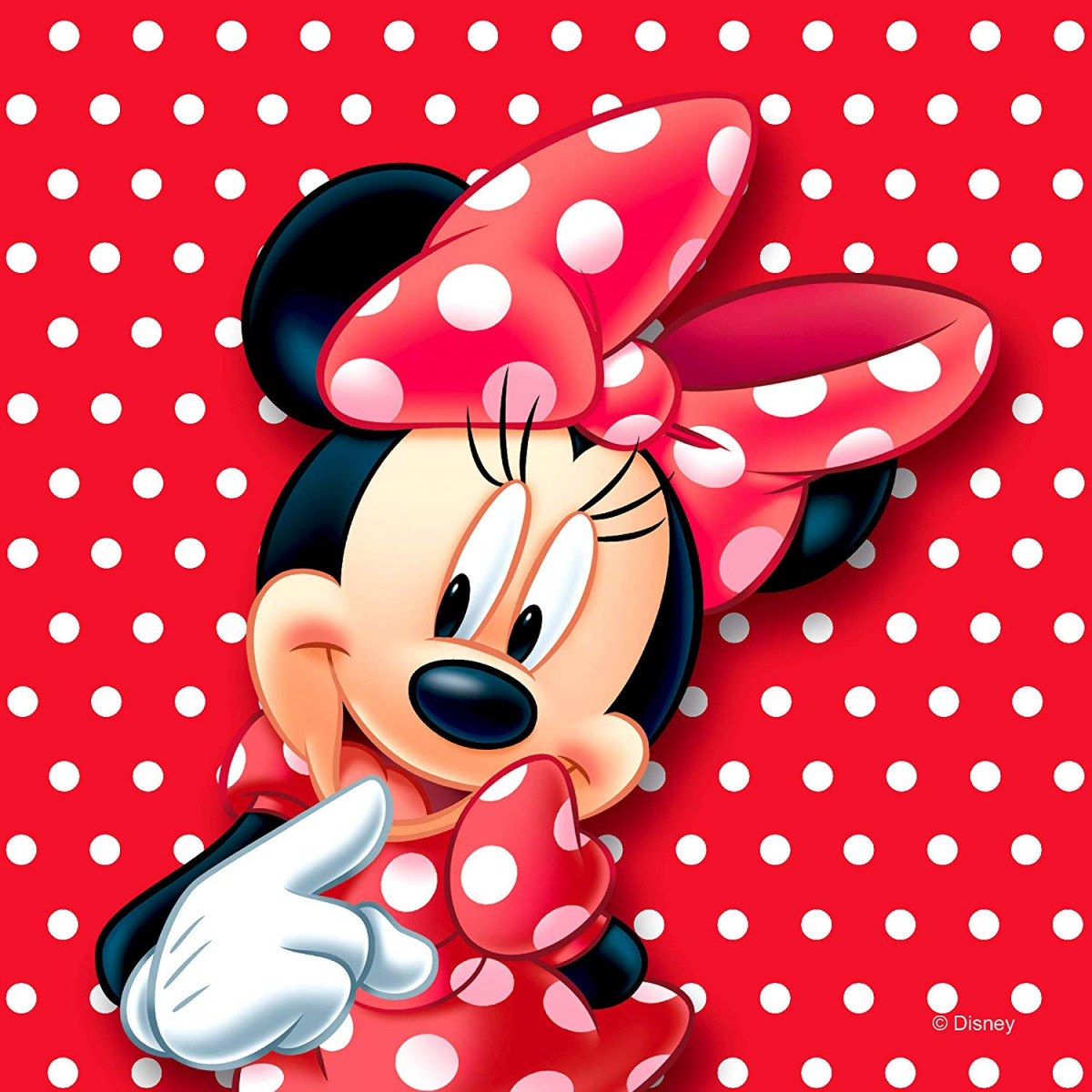 Coussin Minnie Mouse 2 faces Disney 40x40 cm