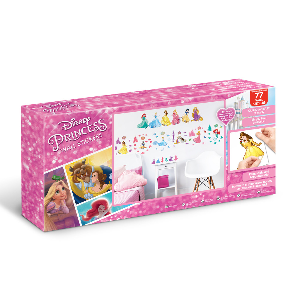 77 Stickers Princesse Disney Walltastic