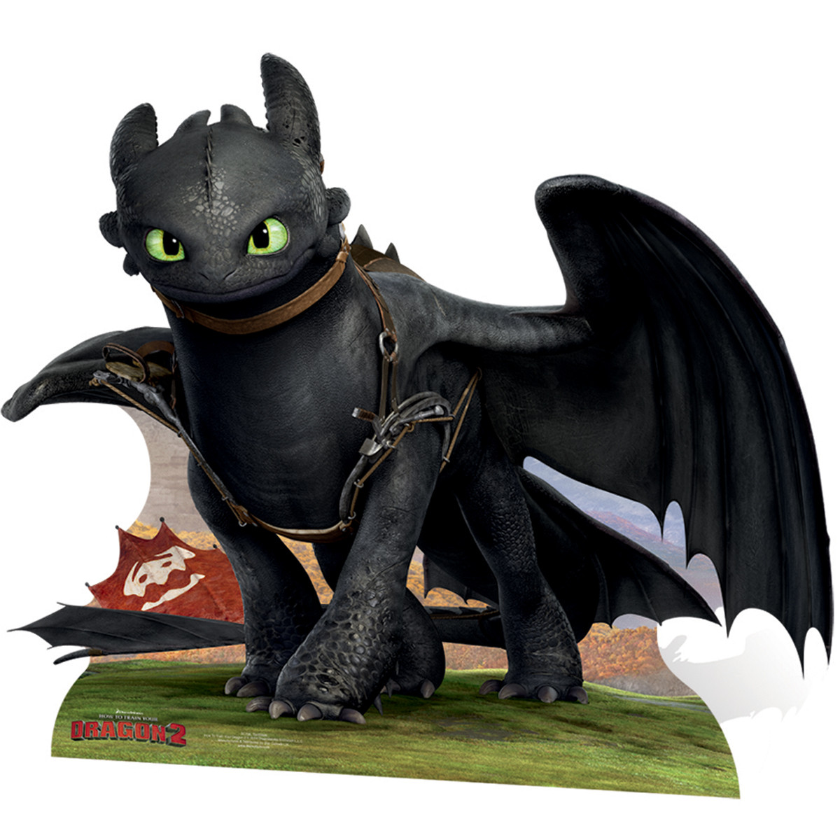 Figurine en carton Krokmou Dragon H 122 CM
