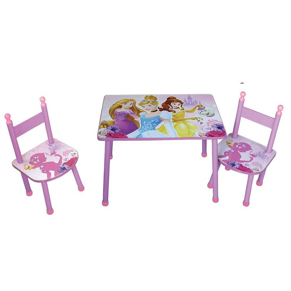Ensemble table et 2 chaises Princesses Disney