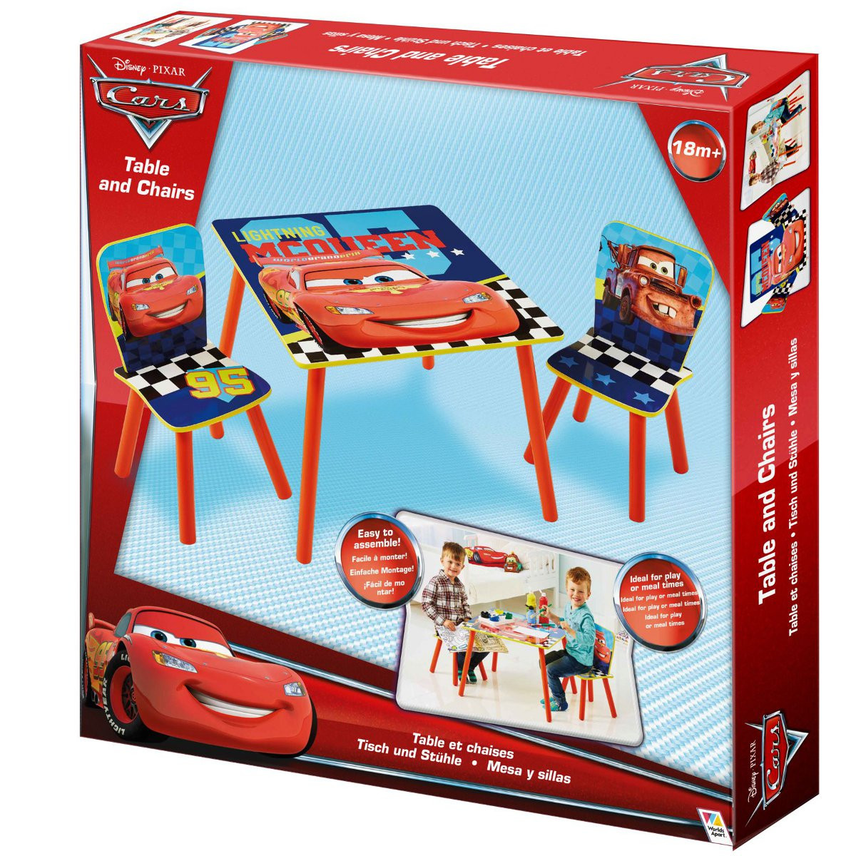 ensemble table et 2 chaises cars disney ensemble table. Black Bedroom Furniture Sets. Home Design Ideas
