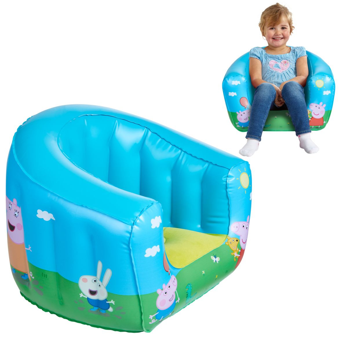 Fauteuil gonflable Peppa Pig
