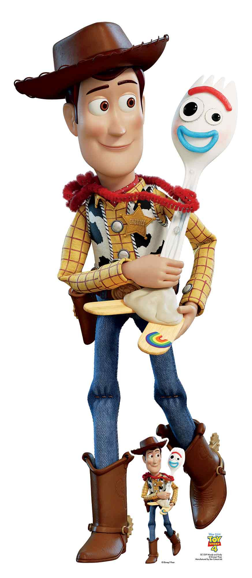 Figurine en carton taille réelle Woody et Forky Toy Story 4 H 164CM