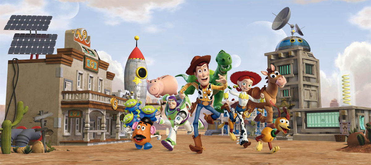 Poster géant Toy Story Team Disney intisse 202X90 CM