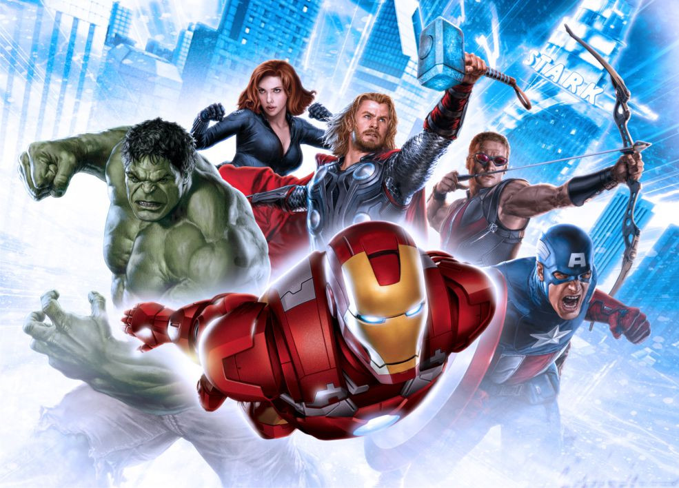 Poster XXL Movies Avengers Marvel 160X115 CM