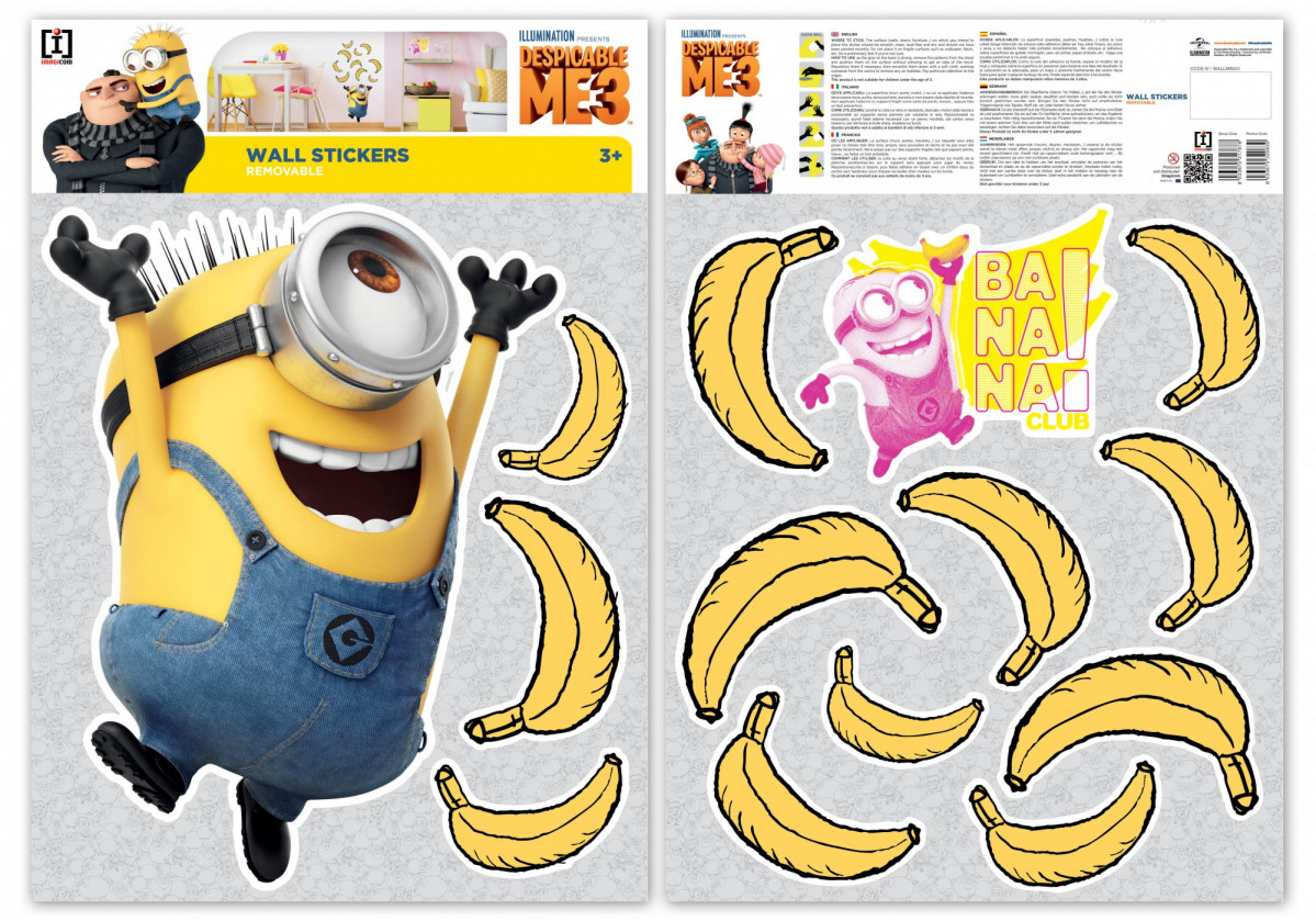 Stickers geant Bananas Les Minions