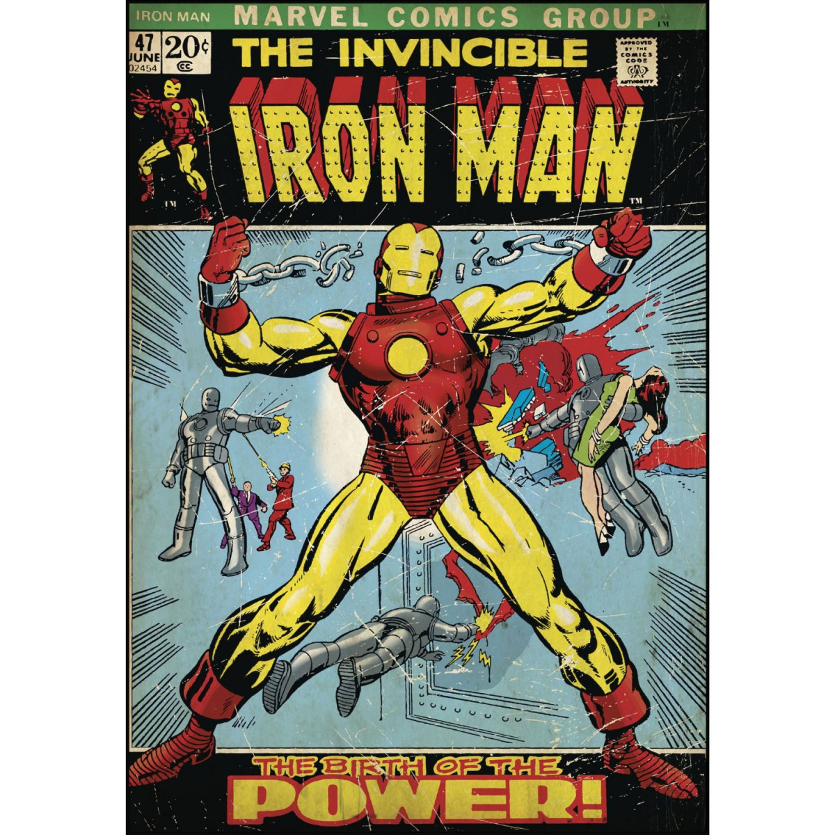 Poster Stickers Iron Man The Birth of The Power Iron Man Marvel