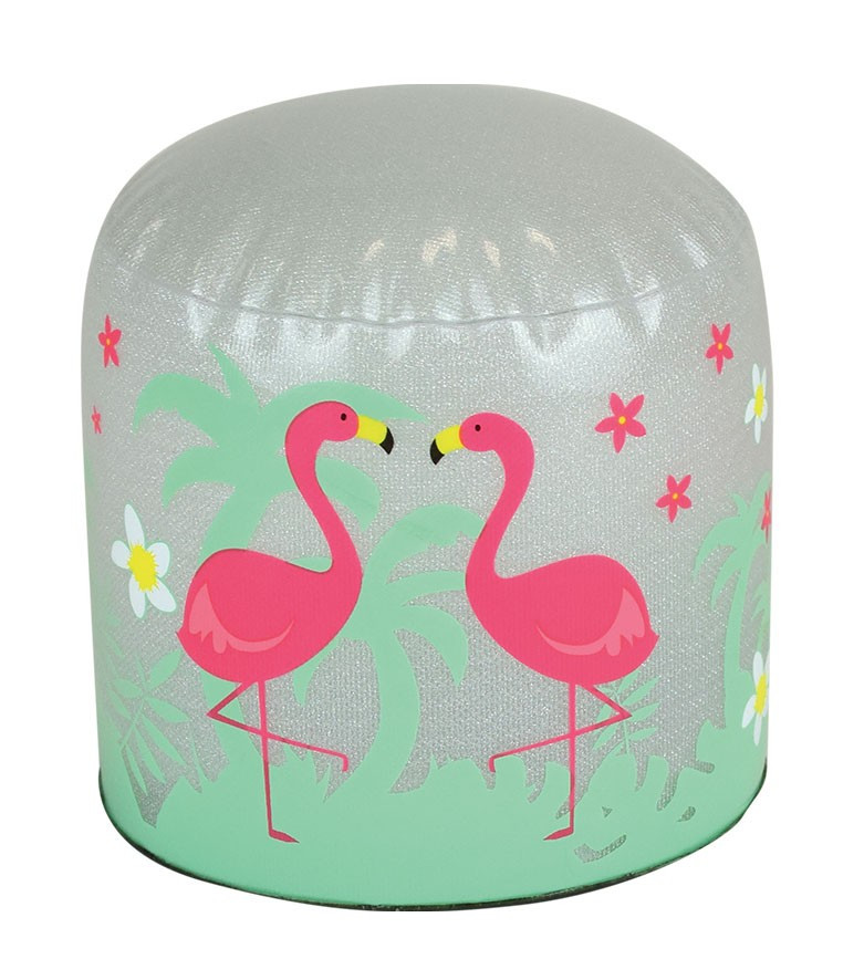 lampe gonflable LED flamant rose jour
