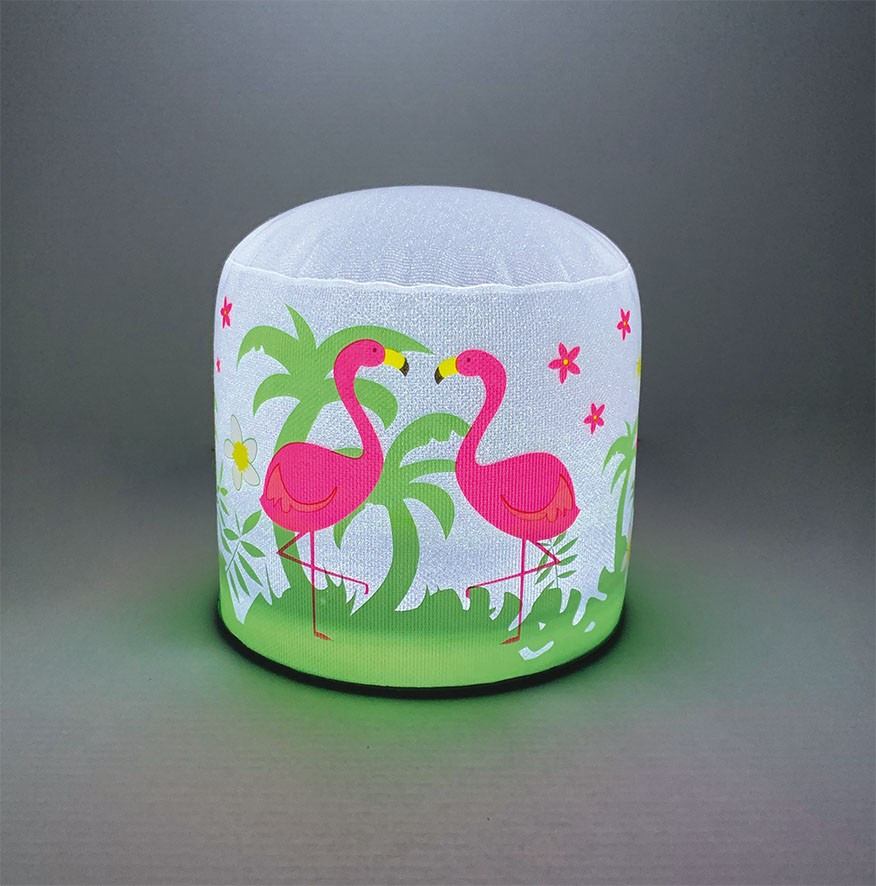 lampe gonflable LED flamant rose lampe allume