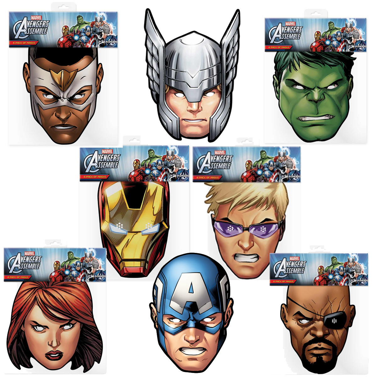 Lot de 8 Masques Avengers Marvel