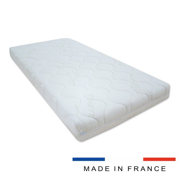 Matelas mousse lit bébé 70x140 10cm Made In France