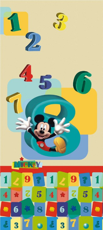 Poster porte Mickey apprend à compter Disney intisse 90X202 CM