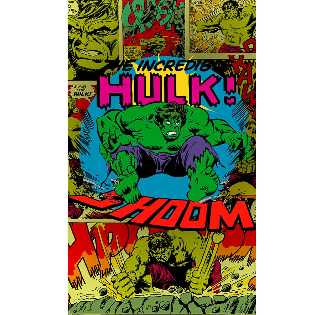 Poster géant intissé The Incredible Hulk Shoom Avengers Marvel Comics