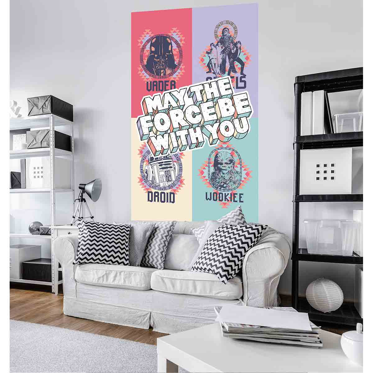 Poster géant intissé May The Force Be With You Star Wars