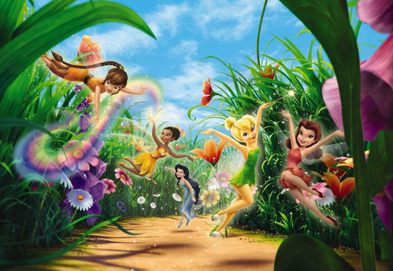 Papier peint Happy Day Fée Clochette Disney Fairies 368X254 CM