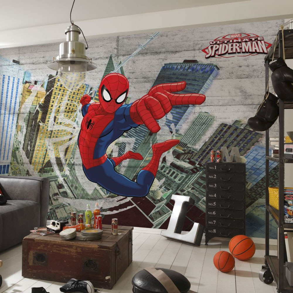 Papier peint Ultimate Spiderman Marvel 368X254 CM