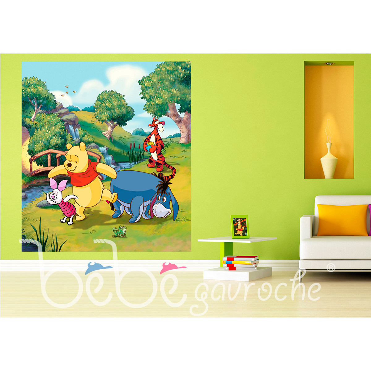 Papier peint XL intisse Winnie l'Ourson Disney 180X202 CM