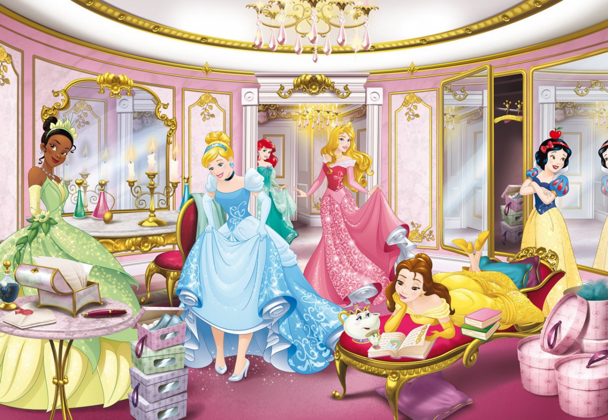 Papier peint photo princesses Disney dressing