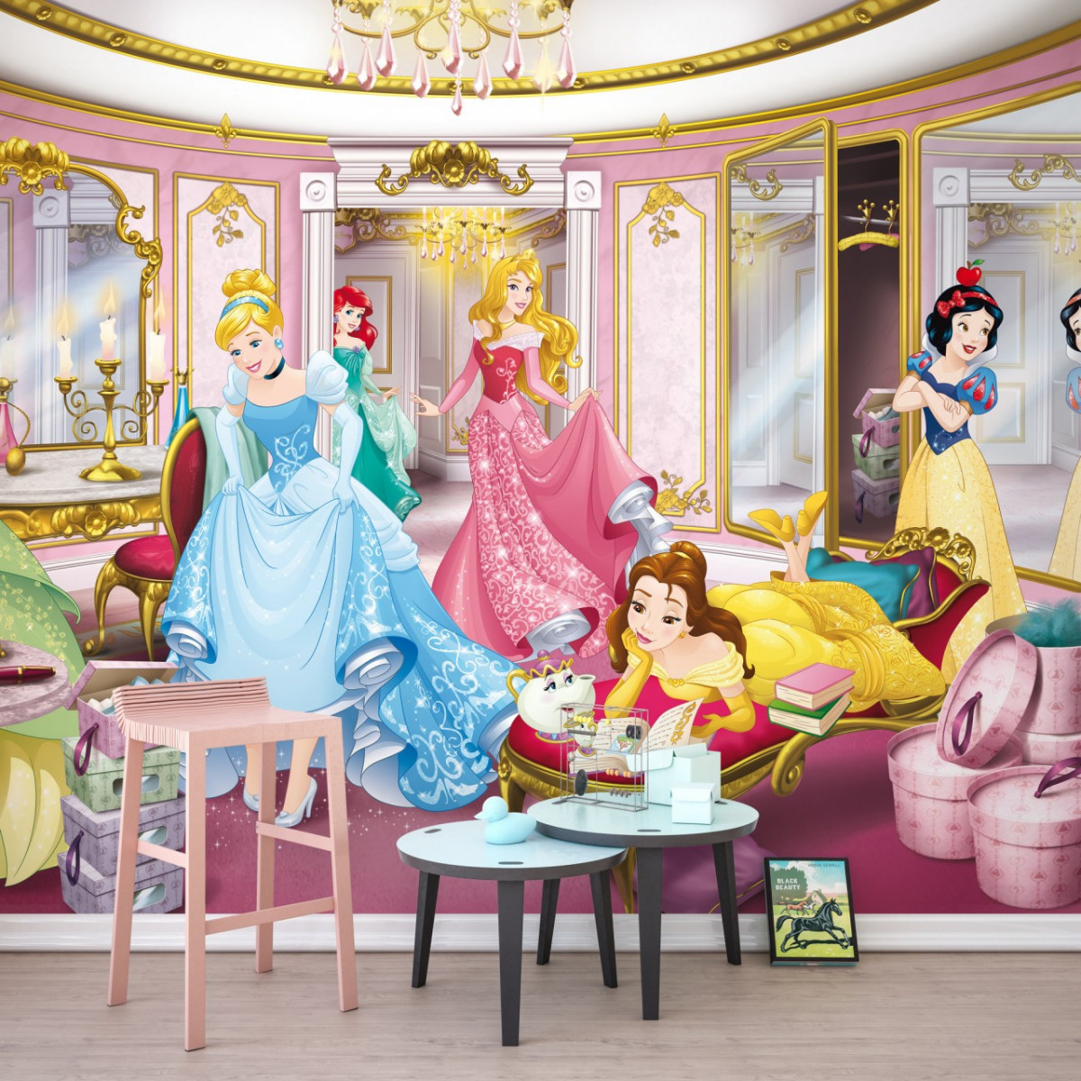 Papier peint photo princesses Disney dressing présentation