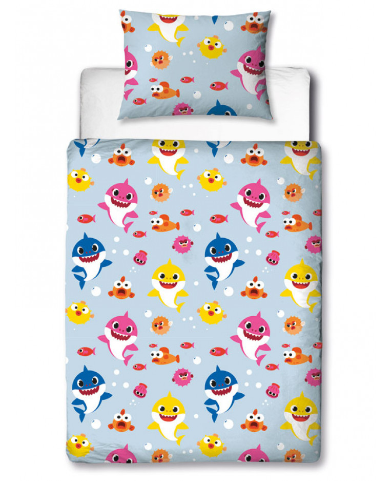 Parure de lit Junior Baby Shark revers