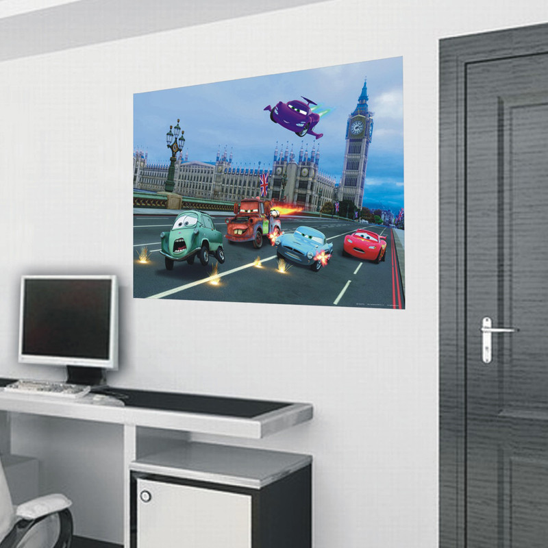 Poster intissé XXL Cars London Disney 160X115 CM