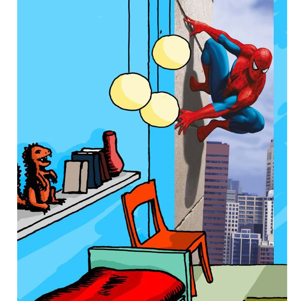 Poster porte Spiderman 90 degrès Marvel