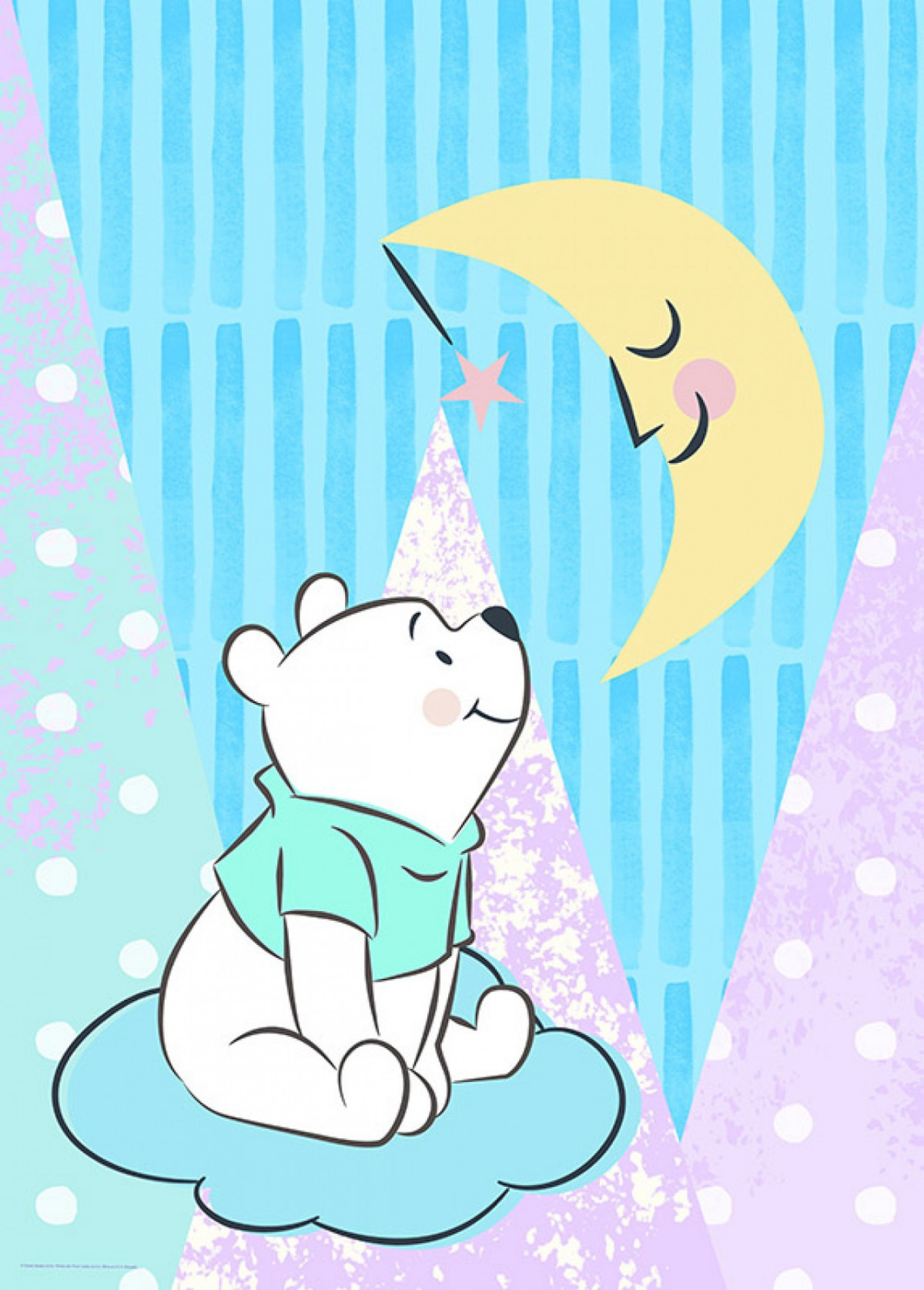 Poster Disney Winnie regarde la lune