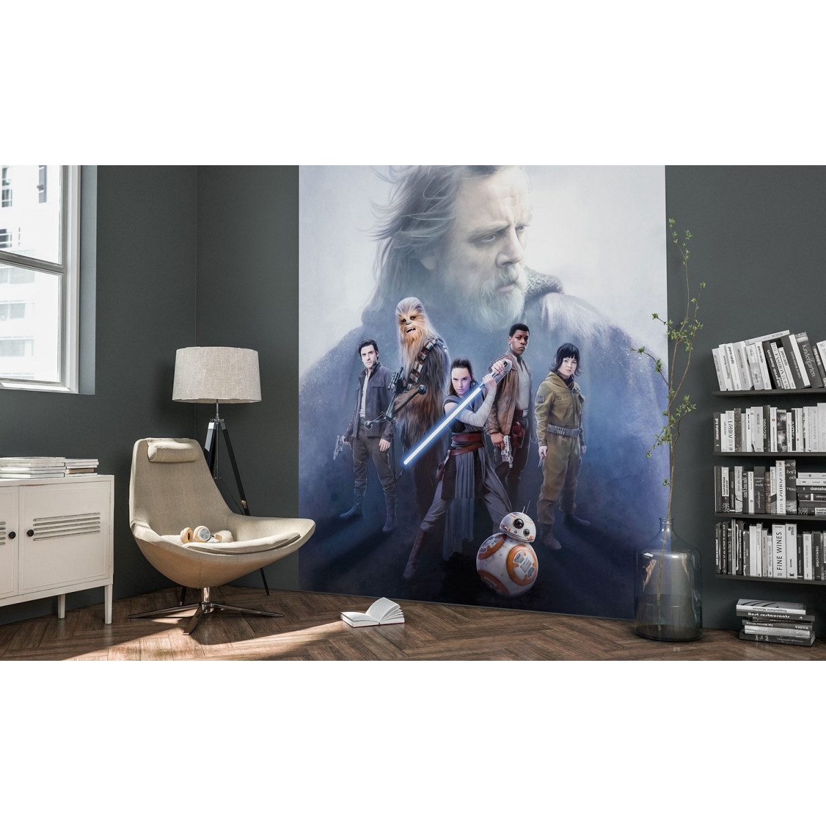Poster XXL Chevalier Jedi Star Wars en situation