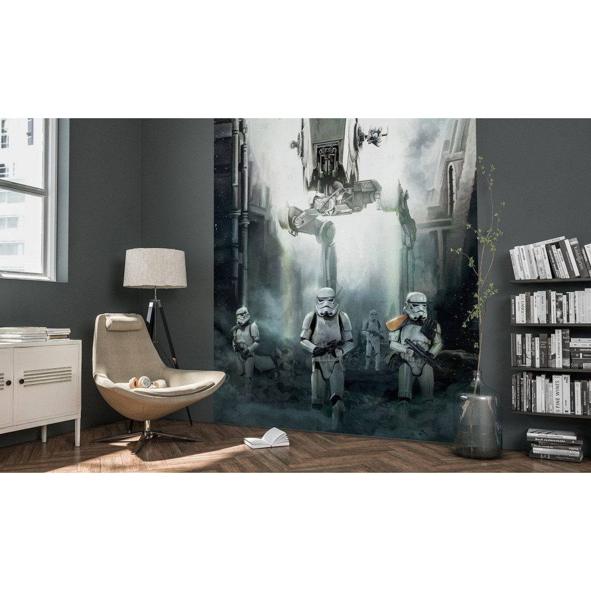 Poster XXL Star Wars mise en situation