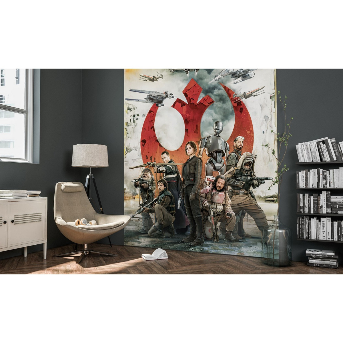 Poster XXL Panoramique Rogue One : Rebels Star Wars 200X275 CM