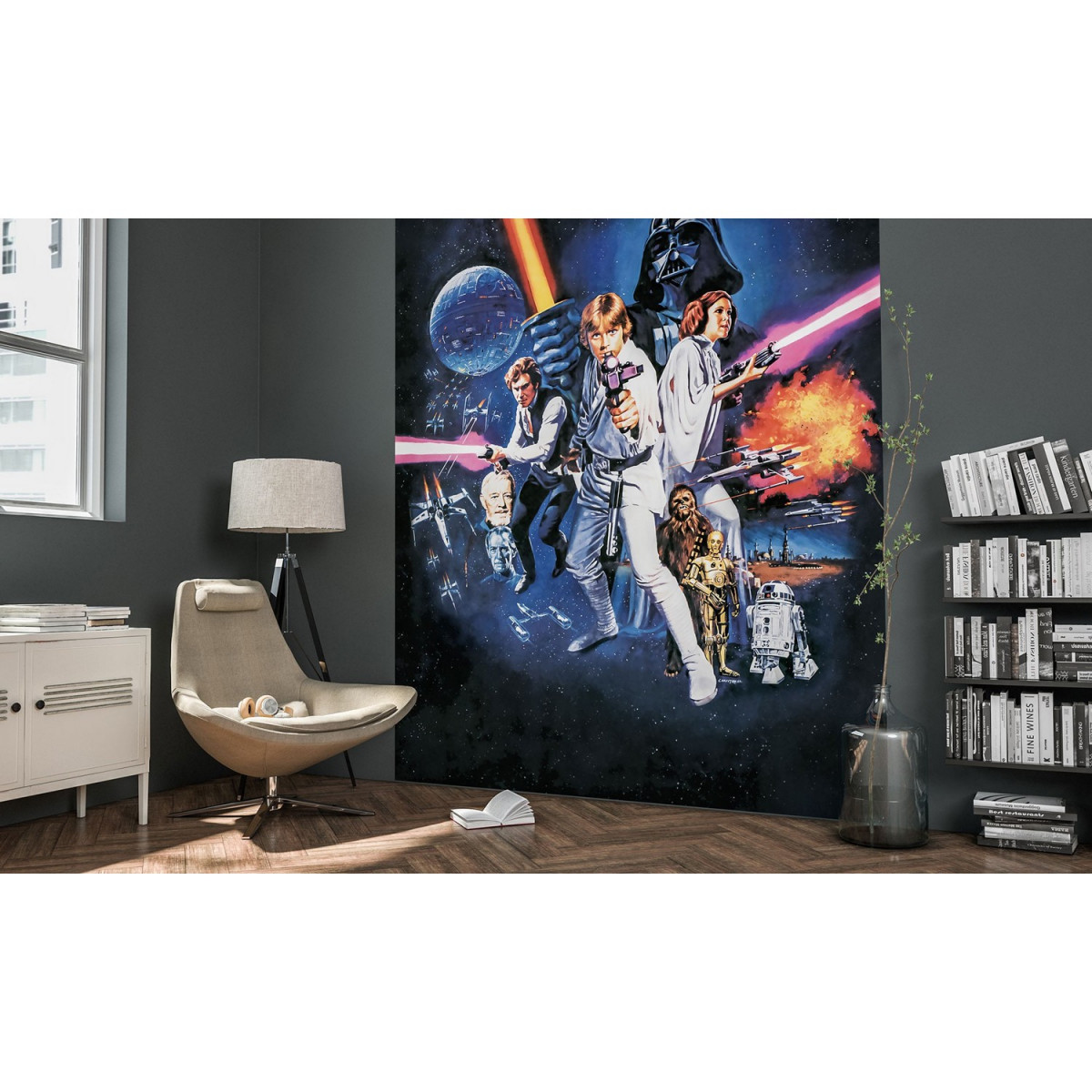 Mise en situation poster XXL Star Wars