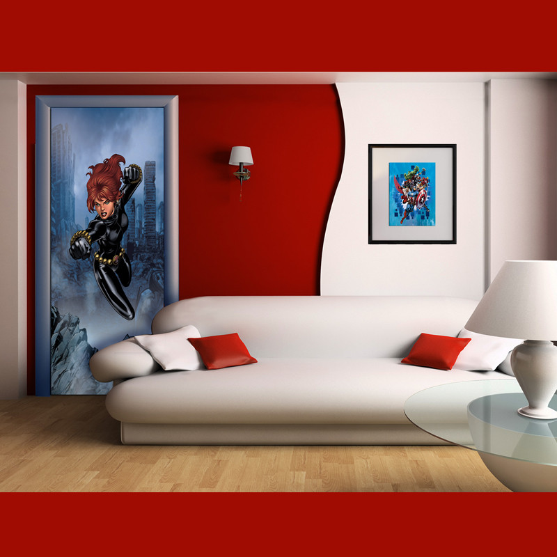 Poster porte Black Widow Avengers Marvel 90X202 CM