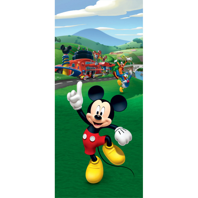 Poster porte Mickey Mouse Donald et Pluto