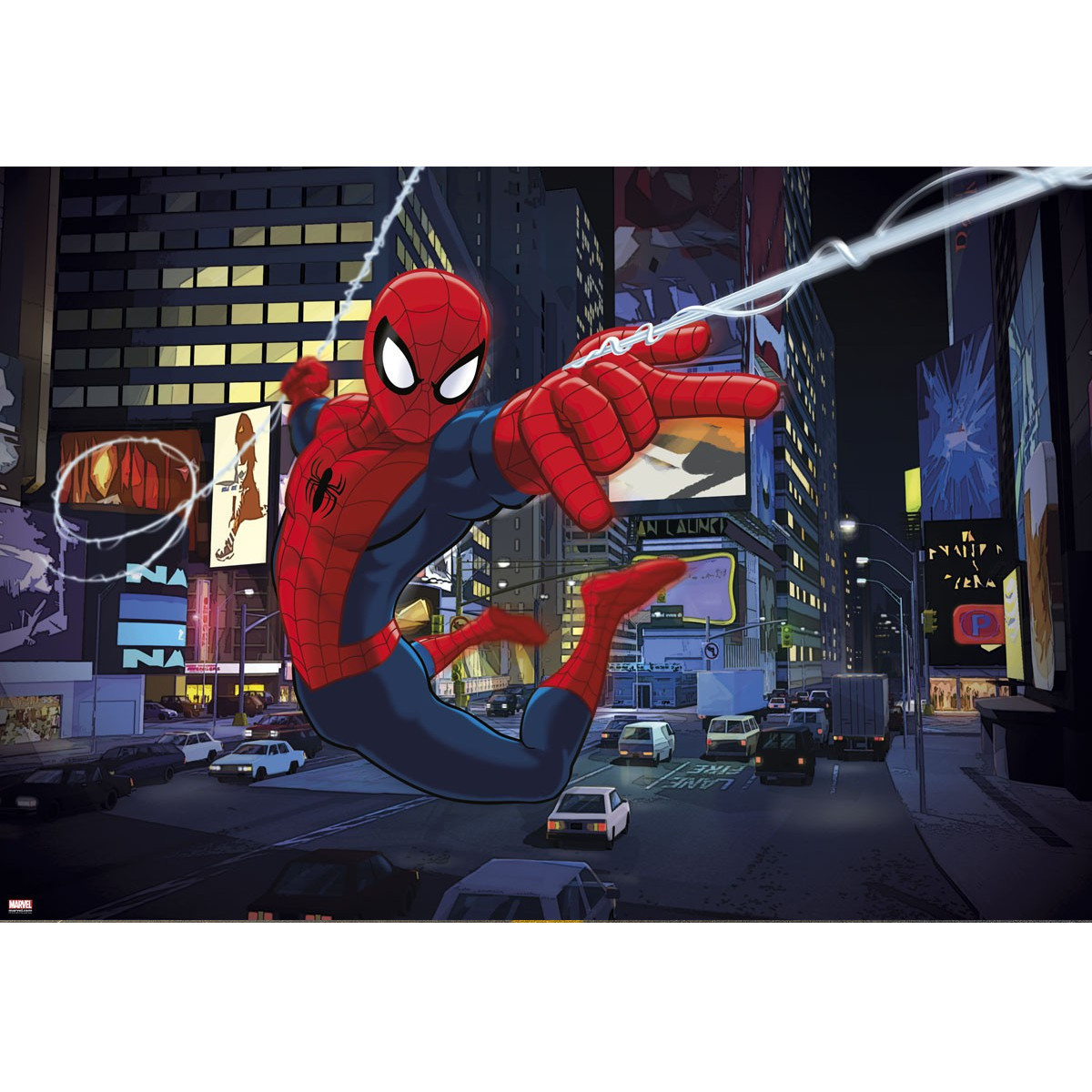 Poster géant Spiderman Times square Marvel 184X127 CM