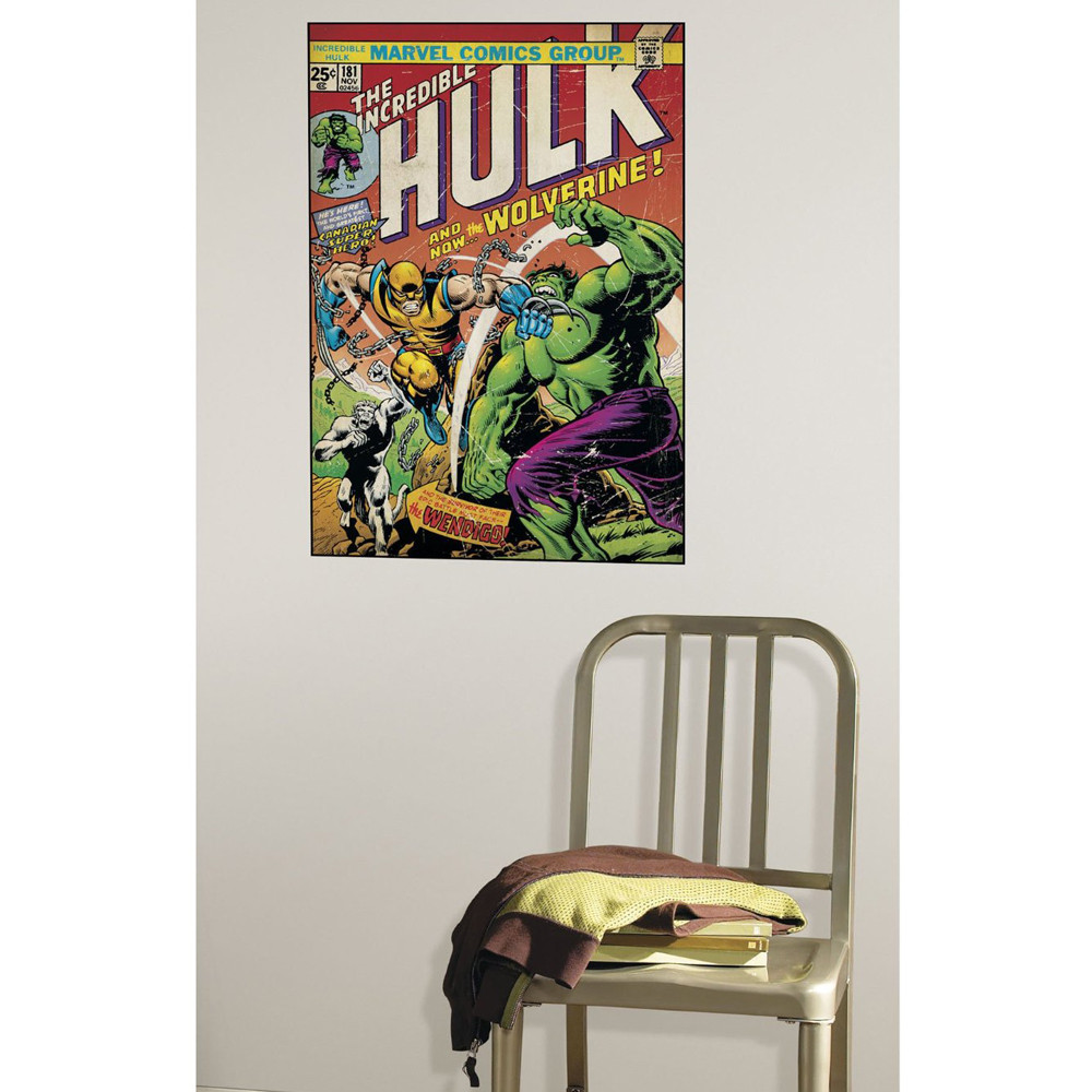 Poster Stickers Hulk with Wolverine Marvel