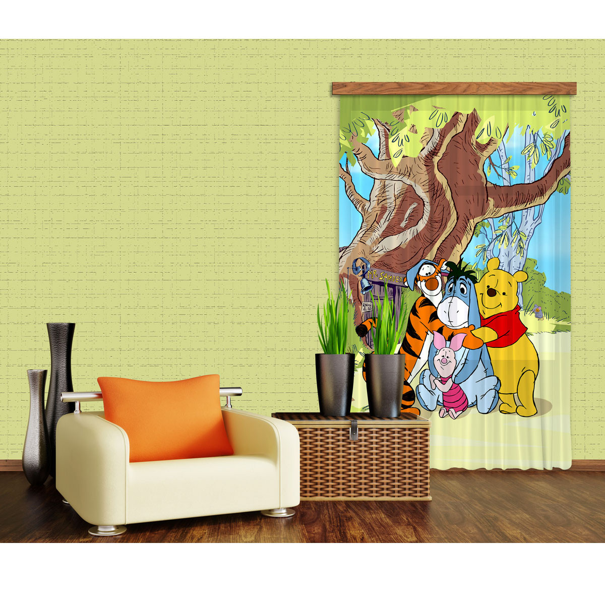 Rideaux Winnie l'Ourson Câlin Disney-Occultant : 140x245 cm