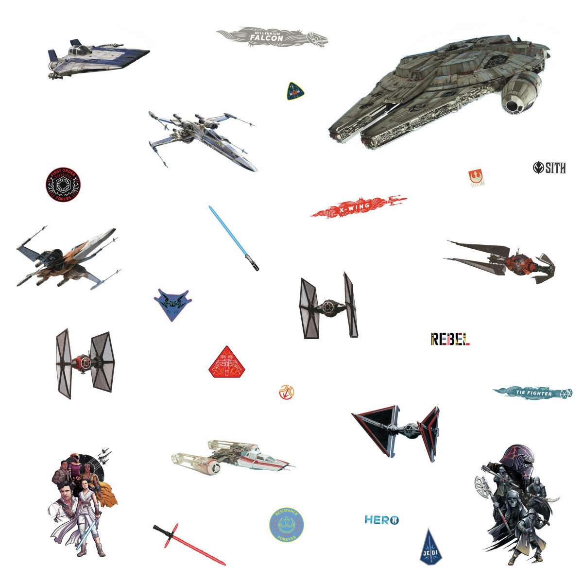 27 Stickers Star Wars Episode IX