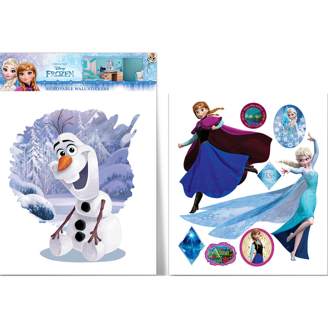 Grand sticker Olaf Elsa et Anna La Reine des Neiges Frozen Disney