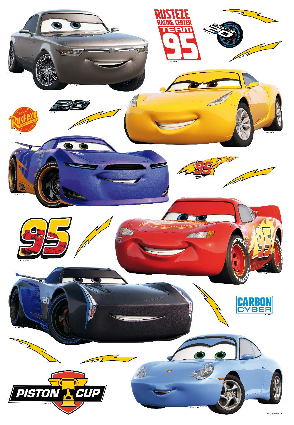 Stickers géant Cars 3 Flash McQueen