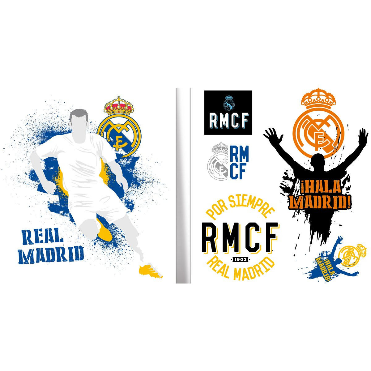 Stickers Logos urban Real Madrid 21X29 cm