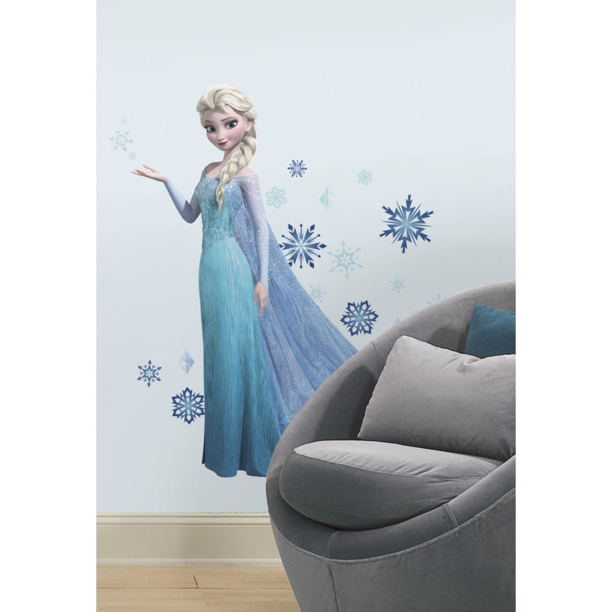 Stickers géant Elsa La Reine des Neiges Disney