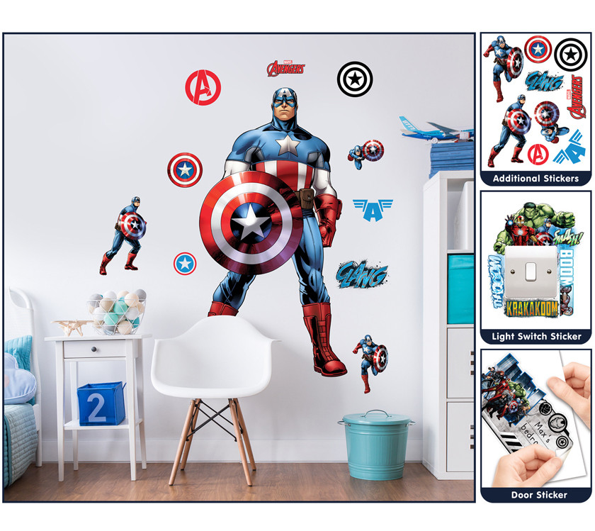 Stickers Géant Captain America Marvel