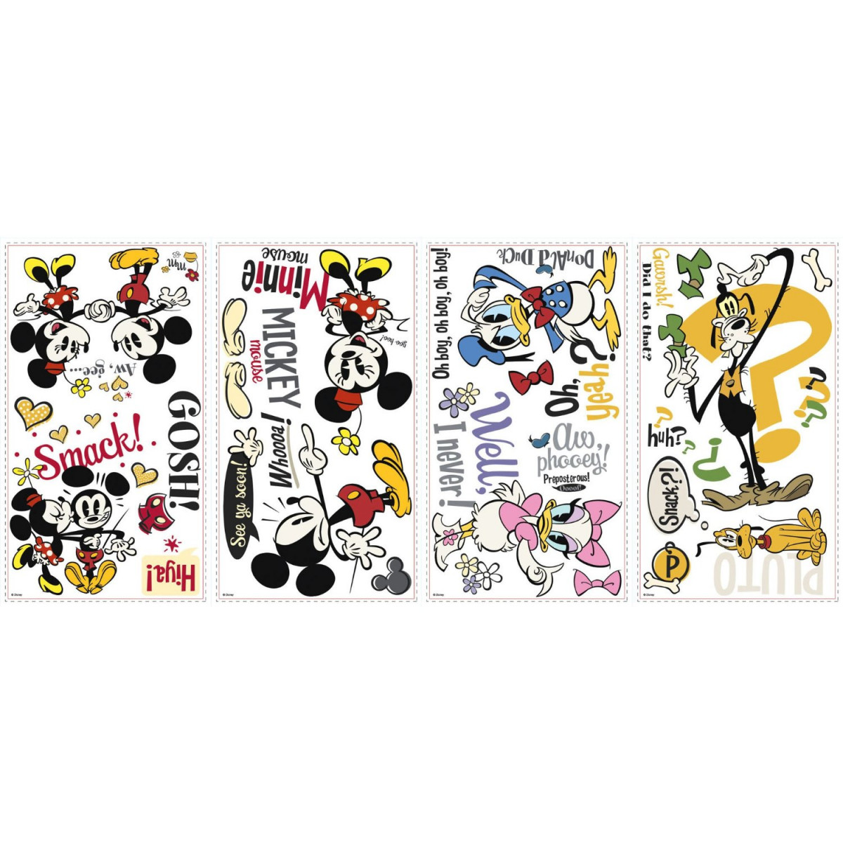 27 Stickers Mickey Mouse et ses amis Disney CLassic