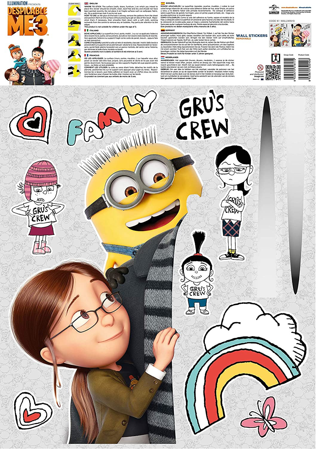 Stickers geant Famille Les Minions