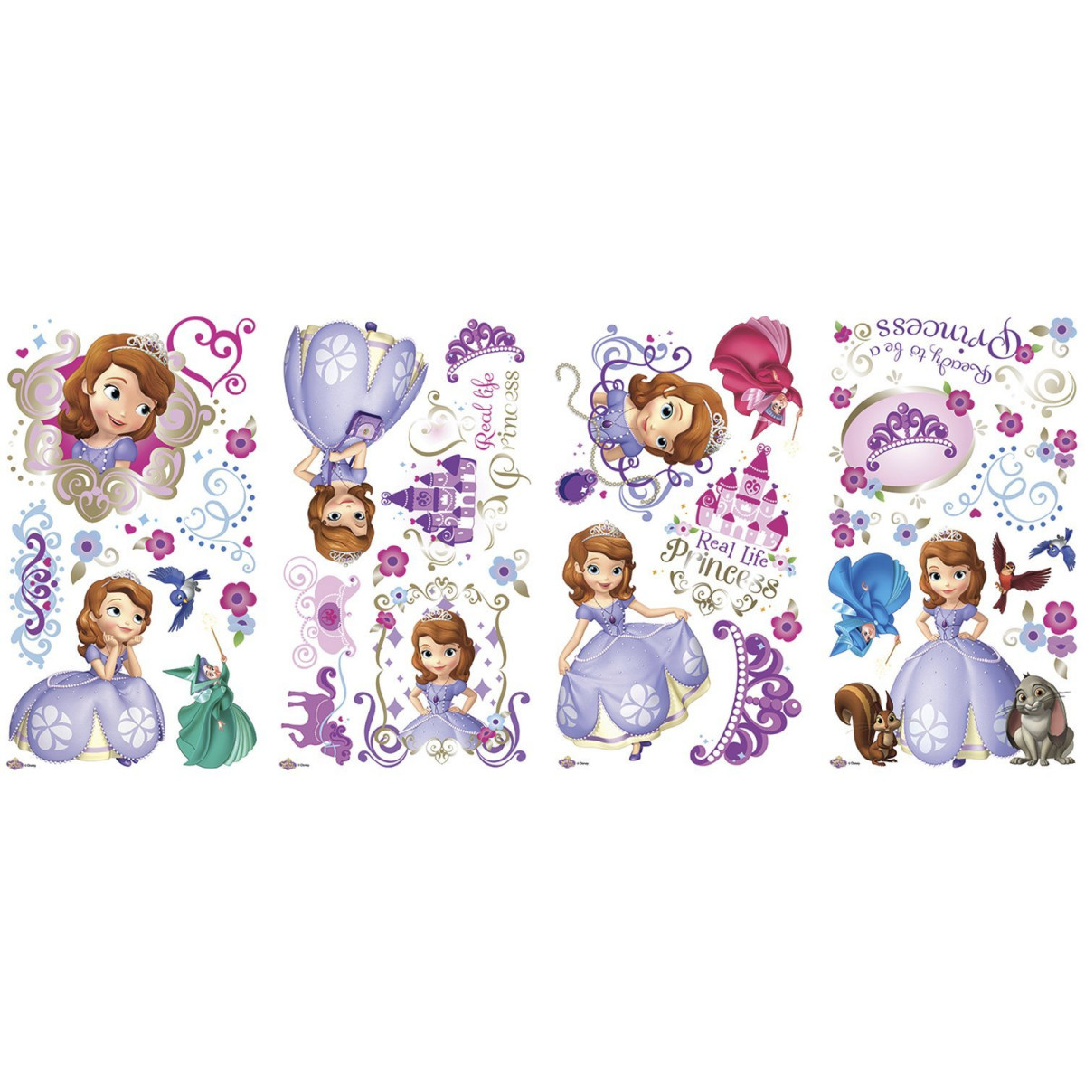 37 Stickers Princesse Sofia Disney