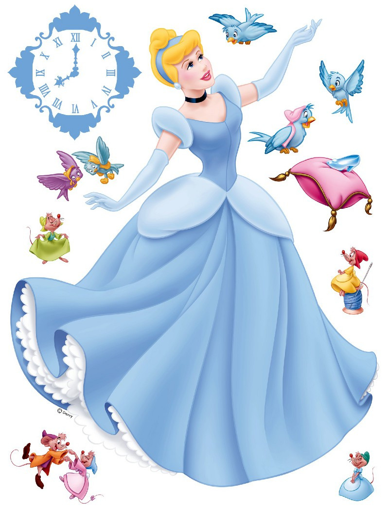 Sticker géant Princesse Cendrillon Disney